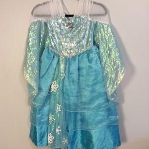 Frozen Elsa Disney Store costume dress 5/6